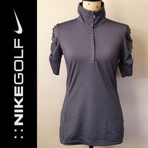 Women's Nike Golf Striped Half-Zip Top